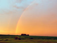 I-57 rainbow at sunset
